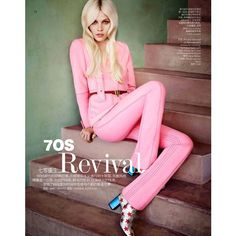 Top model Aline Weber stars in Revival story captured for the December 2014 edition of Vogue China Collections by fashion photographer Matt Irwin. In charge of styling was Ondine 70s Fashion, Pink Fashion, Ondine, Vogue China, Portraits, Glamour, Street Style, Editorial Fashion, Vintage Outfits