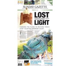 The front page of the Taunton Daily Gazette for Sunday, May 3, 2015.