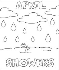 april showers coloring pages April Showers   Spring Coloring Printable | Butterfly crafts ideas  april showers coloring pages