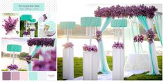 Wedding ● Ceremony Decorations lilac & white & mint