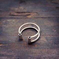 sterling silver geometric ring contemporary by molokoplusjewelry