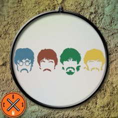 The Beatles Cross Stitch Pattern Kaplio Shop