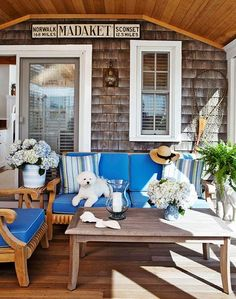 summer home-I don't even know where this is, but I'd sure like to spend a few lazy days on this porch!