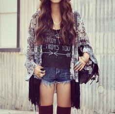 Hipster style. Teen fashion
