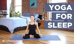 Practice this bedtime yoga for sleep sequence to fall asleep faster and have a restful night's sleep. These yoga poses will help you get better sleep. Visit my website for more details. Sleep Yoga, Bedtime Yoga, Bedtime Stretches, Bed Yoga, Basic Yoga Poses, Yoga Tips, Ashtanga Yoga, Vinyasa Yoga, Yoga Flow