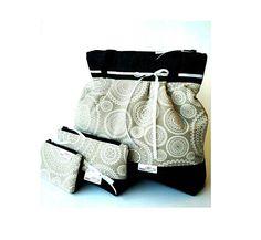 White floral mandala shoulder-bag, Linen and denim bag, Women's bag, Boho bag, Everyday handbag, Canvas bag, Easter gifts, Birthday gifts