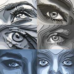 "Shelley Castillo Garcia on Instagram: ""#eyememe .. why not 👁🖤 #shelldoesart #parperartist #eyesonart"" Quilled Paper Art, Origami Paper Art, Paper Art Design, Cut Paper Illustration, Art Challenge, Art Plastique, Illustrations, Sculpture Art, Photo Art"