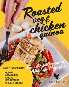 Did you know quinoa is a superfood ? Fill yourself up with this wonderful roasted veg and chicken recipe 👇 Chicken Quinoa Salad, Quinoa Salad Recipes, Healthy Eating Habits, Healthy Life, Healthy Living, Nutritional Cleansing, Forever Living Products, Superfood, Chicken Recipes