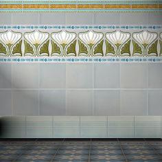 Ceramic wall tile: Art deco pattern F 158 V2 GOLEM Kunst und Baukeramik GmbH