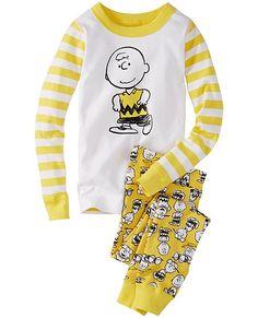 4f3bd2d8a9 Peanuts Long John Pajamas In Organic Cotton from  HannaAndersson.   snoopypins Boys Sleepwear