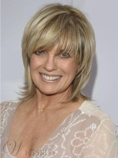 #WigsBuy - #WigsBuy Elegant Custom Linda Gray Hairstyle Short Layered Straight 100% Real Human Hair Wig 8 Inches - AdoreWe.com