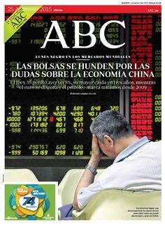 La portada de ABC del martes 25 de agosto