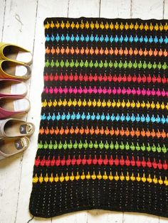 Going to get the supplies to make a blanket like this! Lark's foot crochet! Super easy.