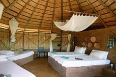 Umlani Bush Camp, een safarikamp in originele Afrikaanse stijl in het Kruger National Park in Zuid-Afrika