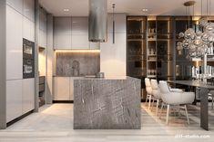 Modern Luxury Kitchens For A Grand Kitchen Luxury Kitchen Design, Kitchen Room Design, Home Room Design, Luxury Kitchens, Home Decor Kitchen, Interior Design Kitchen, Modern Interior Design, House Design, Appartement Design