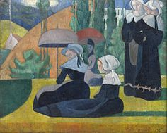 Émile Bernard bretonnes aux ombrelles
