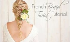 French braid twist tutorials
