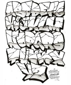graffiti fonts - Google Search