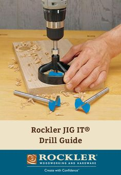 Rockler JIG IT®️ Drill Guide - Ensures perfectly aligned holes every time.