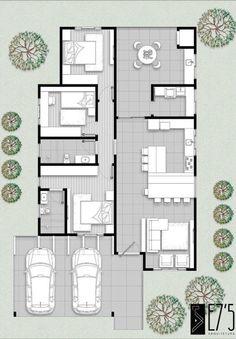 House Layout Plans, Bungalow House Plans, Dream House Plans, House Layouts, House Floor Plans, Contemporary House Plans, Modern House Plans, Small House Plans, Single Storey House Plans