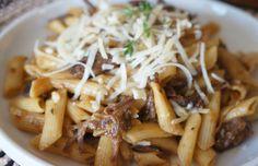Braised short rib with penne pasta - Mytaste.com