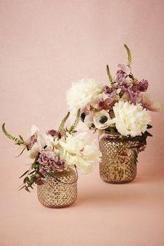 Anthropologie Wedding Decor- Mercury Class Vases/Lanterns