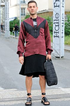 PARIS FASHION WEEK: GIVENCHY - MONSIEUR JEROME. Your kinda style. @Will Evans
