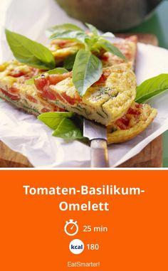 Bauchschmeichler: Tomaten-Basilikum-Omelett - kalorienarm - schnelles Rezept - einfaches Gericht - So gesund ist das Rezept: 9,4/10 | Eine Rezeptidee von EAT SMARTER | Braten, Clean Eating, Eiweißreich, Eiweißreiche vegetarische Gerichte, Gesunde Ernährung, Gesunde-Rezepte, Low Carb, Schnelle Low Carb-Rezepte, Low Carb Abendessen, Low Carb Mittagessen, Europa, Italienisch, Frittata, Kräuter, Omelett, Omelette, Mittagessen, Abendessen, Hauptspeise #eier #gesunderezepte 1200 Calorie Meal Plan, Low Carb Meal Plan, Low Carb Recipes, Vegetarian Recipes, Healthy Recipes, Healthy Diet Plans, Healthy Eating, Eating Habits, Clean Eating