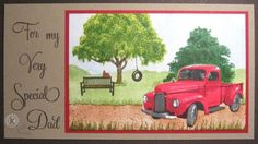 Classic truck - Homemade Cards, Rubber Stamp Art, & Paper Crafts - Splitcoaststampers.com