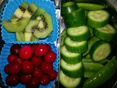 Adult Snack Bento -kiwi -fermented cranberries -persian cucumbers -sugar snap peas