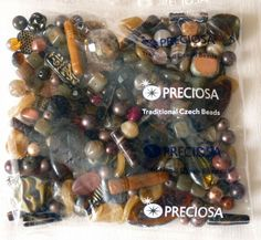 Czech glass seed beads size 10 red-green silver lined square hole 50 g