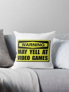 Competitive online, console gamer nerds to computer rooms need a sign that jokes Warning may yell at video games. Check out this funny custom design on tees, shirts, mugs, cases, gifts and apparel. • Also buy this artwork on home decor, apparel, stickers, and more.