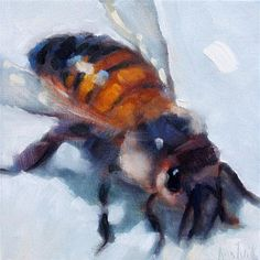 """Daily Paintworks - """"Bee"""" by Ann Tuck"""