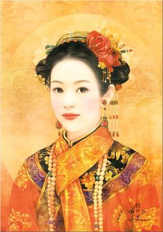 Chinese painting of beautiful woman