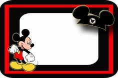 Marion Raiser uploaded this image to 'Disney Stuff/Gift Tags and Note Cards'. See the album on Photobucket. Mickey Mouse Parties, Mickey Party, Mickey Minnie Mouse, Disney Cards, Disney Diy, Disney Stuff, Mickey First Birthday, Mickey Mouse Birthday Invitations, Disney World Autograph Book