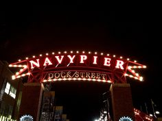 Chicago's Navy Pier at night- been here many times at night but definately want to go atleast once a year at night!