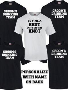 Grooms Drinking Team Shirts