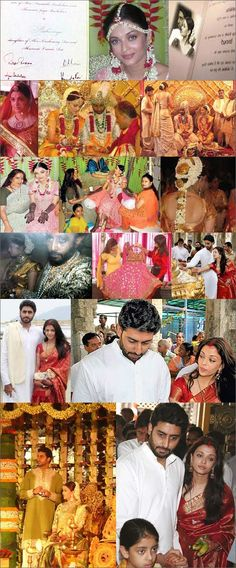Abhishek Bachchan and Aishwarya Rai Wedding Photos | Aaradhya Bachchan
