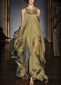 Green goddess. Dilek Hanif gown. Spring/Summer 2011.