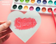 Who's your Valentine? Let the kids craft and reveal adorable messages.