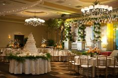 Magical and Sophisticated Reception Decor, Flowers by Kiwi Fleur #wedding #southernwedding #savannahwedding