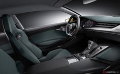 Audi has revealed the new Audi Sport quattro Concept, a show car that evolves the design of the 2010 quattro Concept and features a 700 hp plug-in hybrid powertrain. Tesla Interior, Pictures Of Sports Cars, Audi Sport, Car Car, Frankfurt, Audi Quattro, Concept Cars, Super Cars, Car Seats