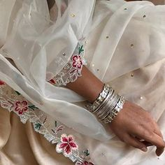 Mid week experiments with this diaphanous drape from & choker from 🌸 Pakistani Bridal Dresses, Pakistani Dress Design, Indian Designer Outfits, Indian Outfits, Embroidery Suits Punjabi, Lehenga Suit, Classy Suits, Summer Design, Embroidery Fashion