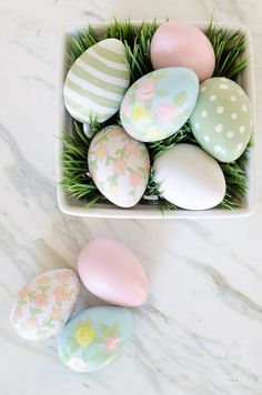 Acrylic Painted Easter Eggs