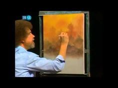 Snowy peaks point toward the heavens as Bob Ross surrounds all of this with a happy gathering of landscape finery. Season 13 of The Joy of Painting with Bob . Bob Ross Painting Videos, Bob Ross Paintings, Painting Lessons, Painting Techniques, Painting & Drawing, Encaustic Painting, Pinturas Bob Ross, Robert Ross, Bob Ross Art