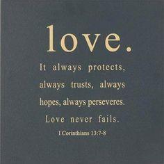 True love never fails