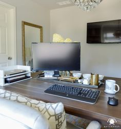 Hide Home Office In Living Room