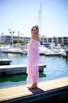 pink maxi dress #summer