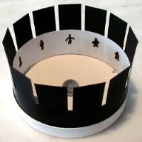 How to Make a Zoetrope. A zoetrope works similar to a flip book: if you move many images through a single spot fast enough, it creates the illusion of a single, animated image. Unlike a flip book, though, in which you flip through the. Diy Paper, Paper Crafts, Diy Crafts, Art For Kids, Crafts For Kids, Plastic Flower Pots, Popular Toys, Paper Strips, Art Club