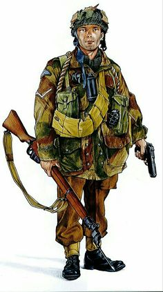 British paratrooper, Normandy 1944 - pin by Paolo Marzioli